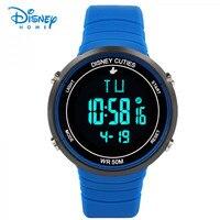 שעון דיסני לילדים ילד ילדי ספורט הדיגיטלי LED שעונים LED שעון עמיד למים אופנה שעון שעוני יד ג 'לי גומי חיצוני