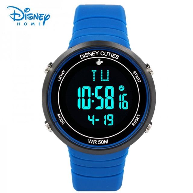 Disney Watch Kids Boy children Watch LED Digital Sports Watch LED Waterproof Watch Fashion Outdoor Wristwatches Jelly Rubber