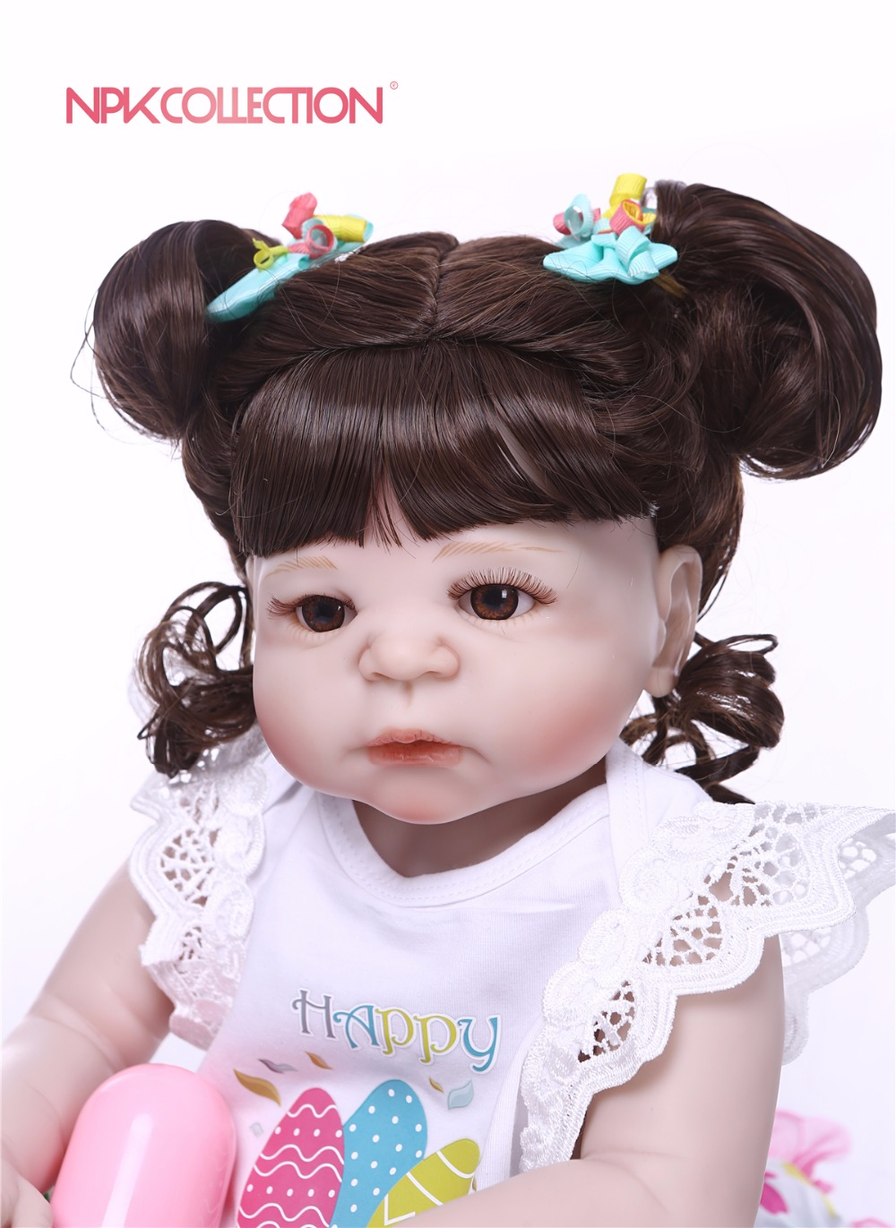 Npk Real New Hairstyle 57cm Full Body Silicone Girl Reborn Babies