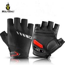 ROCKBROS Liquid Silicone Cycling Gloves Road Bike Half Finger MTB Leather Gel Men Shockproof Racing Moto Sports