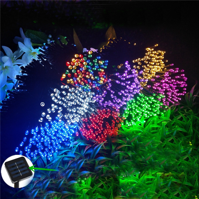 5M 7.5M 12M 22M 52M Solar Powered Lamp Waterproof LED String Lights Fairy Garland For Outdoor Wedding Christmas Holiday Decor waterproof 5m 16ft led string ball lights curtain garland for fairy wedding garden new year outdoor christmas holiday decor