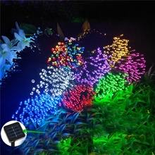 5M 7.5M 12M 22M 52M Solar Powered Lamp Waterproof LED String Lights Fa