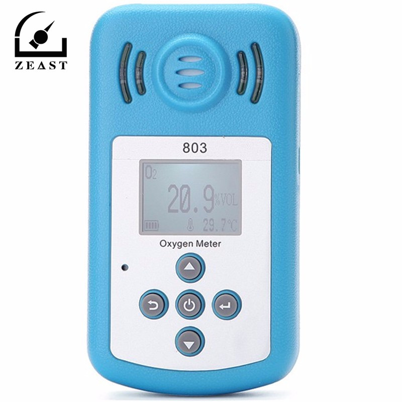 KXL-803 Oxygen Meter O2 Tester Gas Analyzer With LCD Display And Sound-light Alarm Fine Oxygen(O2) Concentration Detector carbon monoxide gas co meter detector with lcd display and sound light alarm analyzer measurement portable