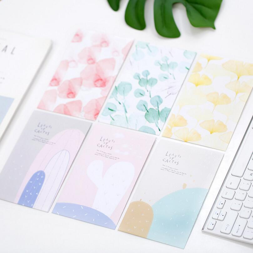 60 Pcs/lot Cartoon Kawaii Leaf / Cactus Korea Paper Envelope Mini Small Baby Gift Craft Envelopes For Wedding Letter Invitations And To Have A Long Life.
