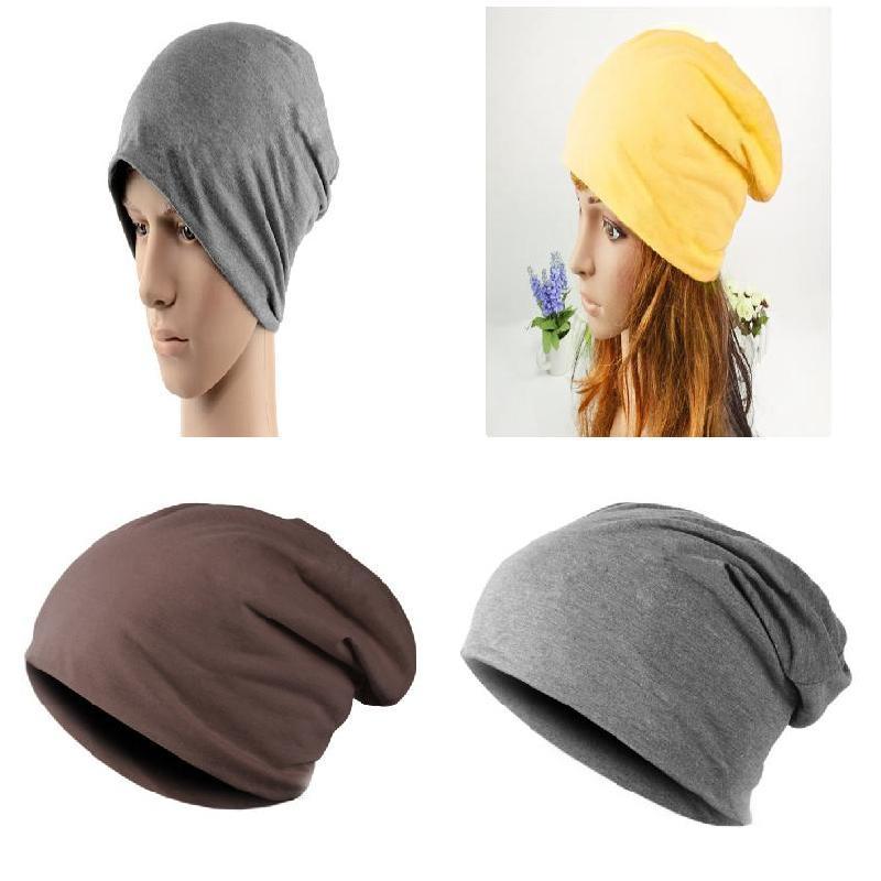 Newly Korean Women Men Unisex Candy Color Ski Crochet Slouch Hat Cap Cotton Head Set Autumn Winter Warm Cap Hip-Hop   Beanies   LL17