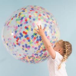 36 дюймов прозрачный Латекс шары игрушечные лошадки для вечерние многоцветный воздушный шар с цвета: золотистый, серебристый конфетти