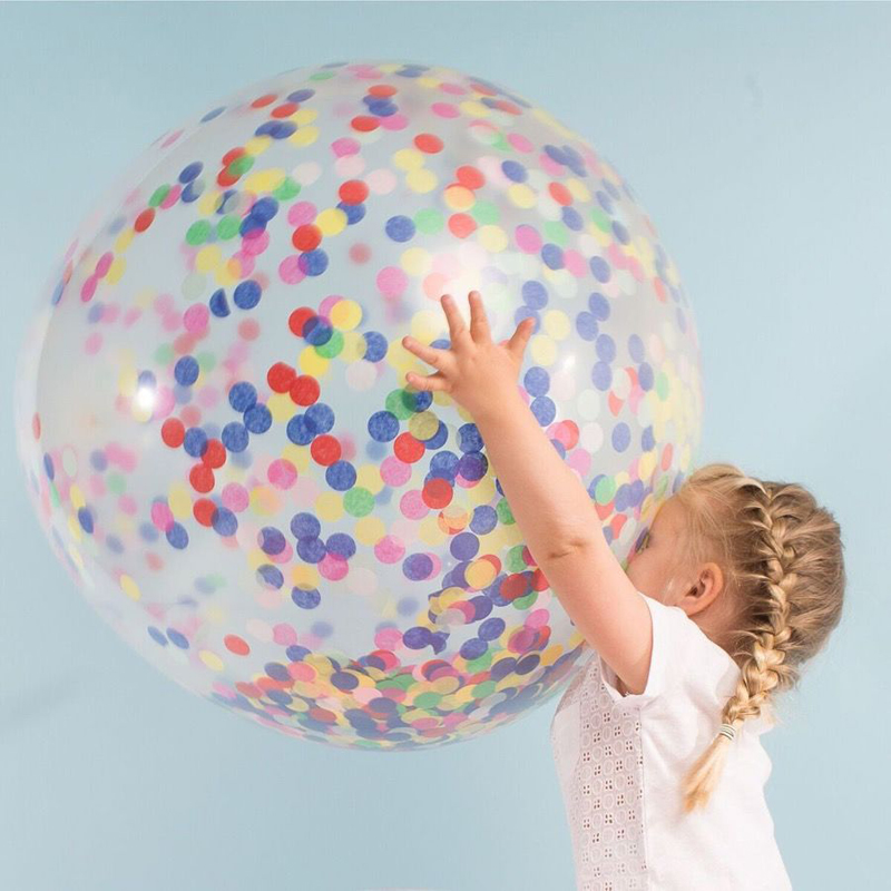 36 Inch Transparent Latex Balloons Toys For Children Kids Party Multicolor Balloon  With Gold Silver Confetti Gift