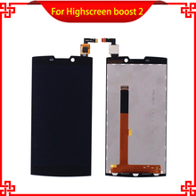 10pc/lot LCD Display Touch Screen For Highscreen boost 2 9108 se 9169 9267 Black Mobile Phone LCDs Free Shipping