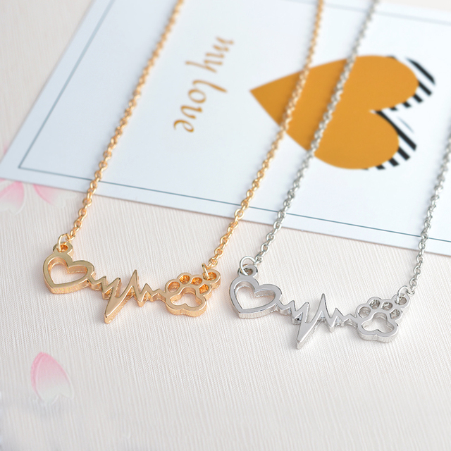 Heart With Paws Necklace Always In My Heart