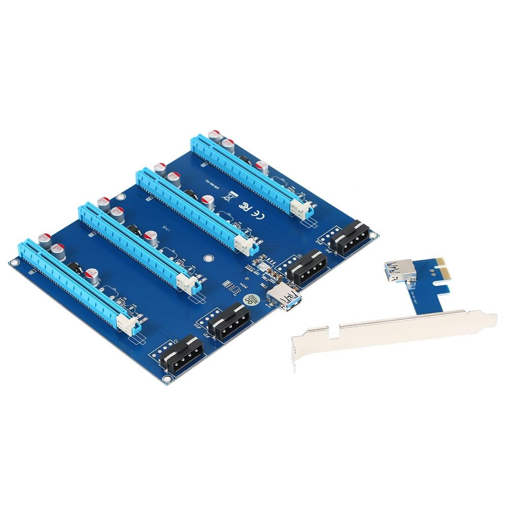 Computer Components Steady Pci-e To External 3-port Usb 3.0 Plus Gigabit Ethernet Card Adapter Converter For Pc Desktop Computer Div