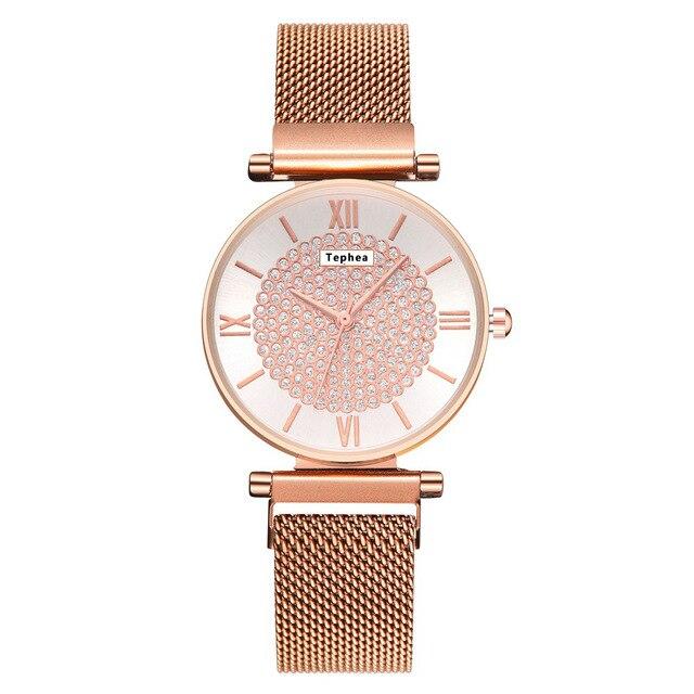 Women Magnetic Buckle Watch 2019 Luxury Brand Diamond Women Bracelet Wrist Watch For Ladies Wrist Watch Female Relogio Feminino 1