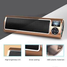 Wireless Portable Stereo Soundbar with FM Radio