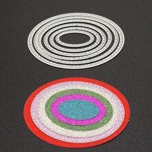 Oval Metal Cutting Dies  for Scrapbooking Die Cut Paper Card Diy Circle Cutters Set