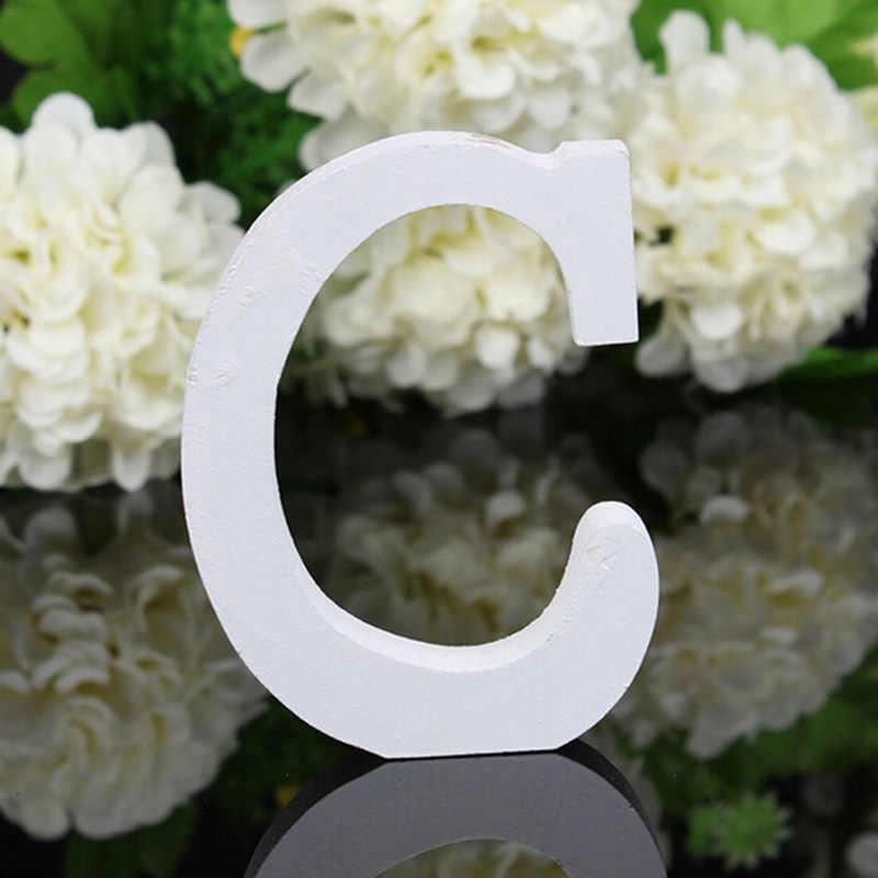 Свадебные украшения A-Z деревянные буквы алфавит слово свободно стоящая Свадебная вечеринка украшение винтажный домашний декор