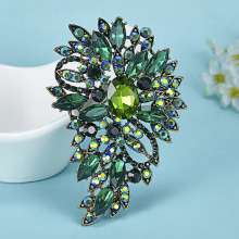 Hot Selling Flower Brooch Pins For Women Wedding Jewelry Brand Rhinestone Crystal Brooches Bouquet Fashion Vintage Broches Broch