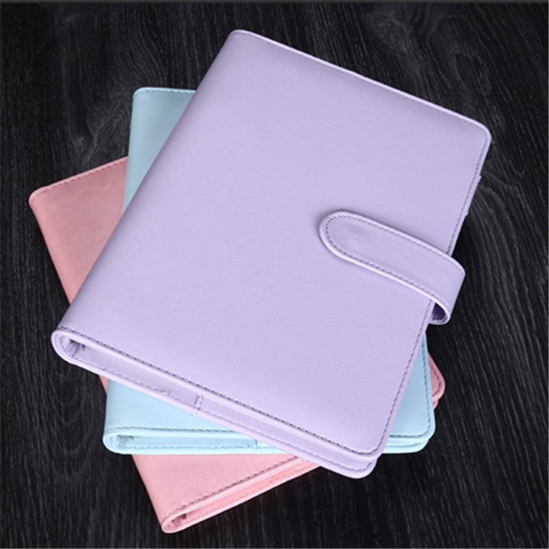 A5 A6 Dokibook notebook Macaron Fine Faux Leather Spiral Notebook Diary Week Agenda Organizer Planner Notepad Office Stationery аксессуар чехол huawei honor 8 skinbox slim silicone transparent t s hh8 006