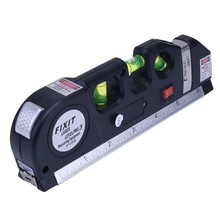 Laser Level Measure Line Tape Horizon Vertical Standard & Metric Rulers Multipurpose Instrument