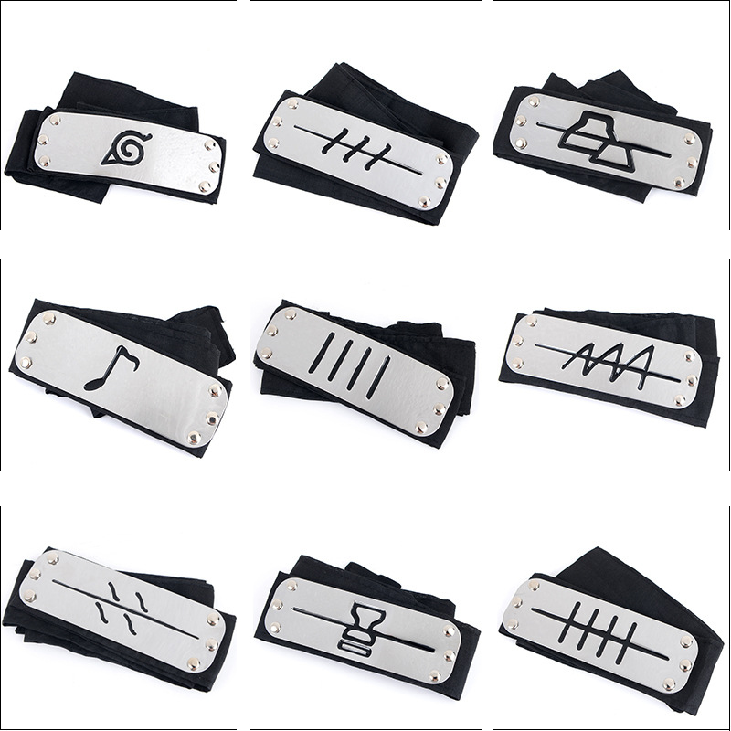 1PCS 25style Anime Naruto Figurines Uzumaki Headband Naruto Kakashi Figura Konoha Leaf Forehead Cosplay Accessories for kids leaf village naruto headband