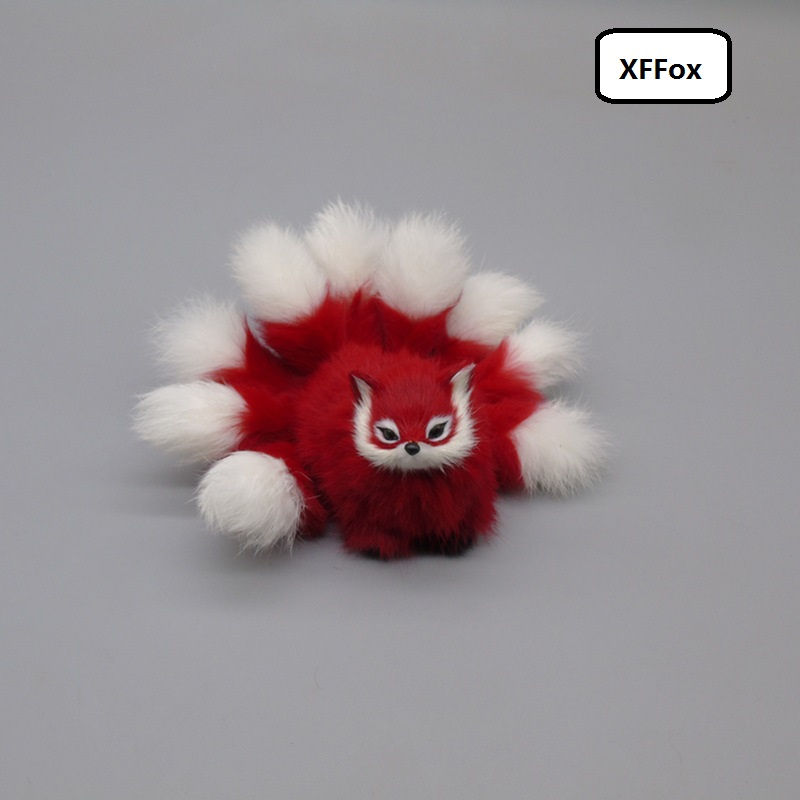 creative real life red fox model plastic&furs simulation nine-tails fox doll gift about 18cm xf1771
