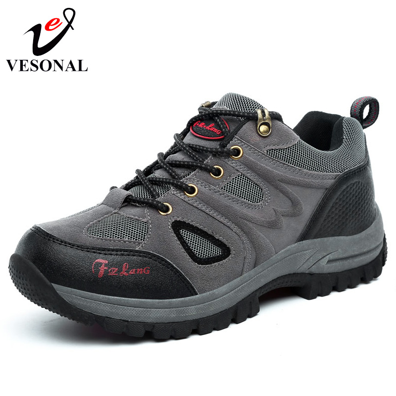 VESONAL Autumn Winter Fur Male Casual Shoes For Men Adult Mesh Brand Suede Leather Non Slip Walking Fashion Velvet Footwear Man 2016 new autumn winter man casual shoes sport male leisure chaussure laced up basket shoes for adults black