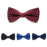 جديد البوليستر للرجال ماركة البولكا نقطة ربطة العنق الشركة الزفاف رابطات العنق vestidos gravata borboleta LJ7804