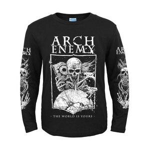 Image 5 - 5 дизайнов, шведская группа Arch Enemy, 3D череп, рыцарь, рок, бренд, для мужчин и женщин, рубашка с длинным рукавом, тяжелый металл, панк, иллюстрация, футболка