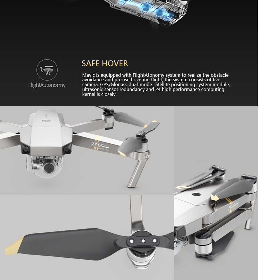 DJI Mavic Pro Platinum Fly More Combo & dji mavic pro quadcopter 12 mil. 4K HD Video Recording drone 7 KM Remote Control 30 mins_07