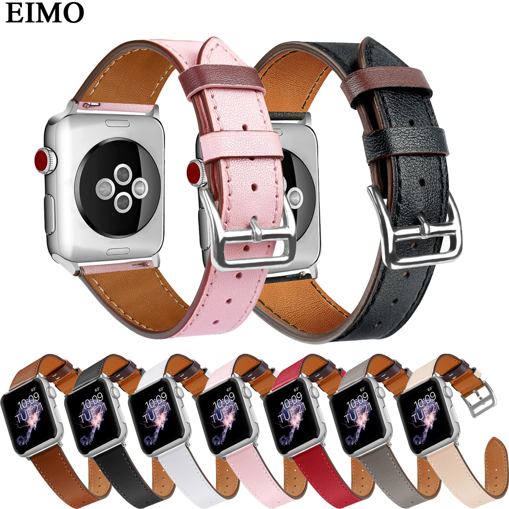 EIMO Leather strap correas For Apple Watch 4 44mm 40mm iwatch Series 4 3 2 1 42mm 38mm wristband bracelet smartwatch WatchbandEIMO Leather strap correas For Apple Watch 4 44mm 40mm iwatch Series 4 3 2 1 42mm 38mm wristband bracelet smartwatch Watchband