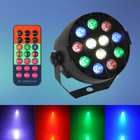 Vendita calda 8CH DMX-12 LED Luce Della Fase Par 12 W RGB illuminazione Con Contrller Remoto per Proiettore Laser Party Club DJ House discoteca