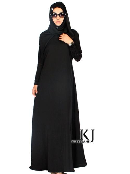Fashion Clothing Malaysia Latest Saudi Black Abaya Special Material Beautiful Abayas Islamic