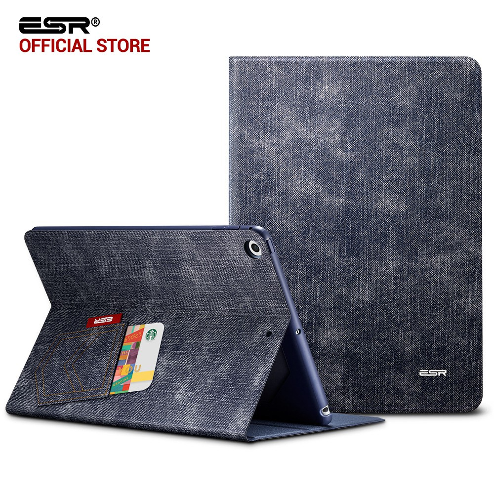Case for iPad 9.7 2017, ESR Simplicity PU Leather Smart Cover Folio Case Auto Wake Cover case for New iPad 2018 Release 9.7 inch