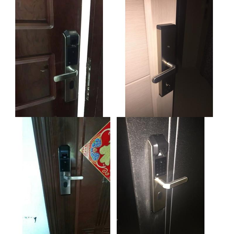 RAYKUBE электронный дверной замок с отпечатком пальца домашний Противоугонный замок проверка отпечатков пальцев интеллектуальный замок с пар... - 3