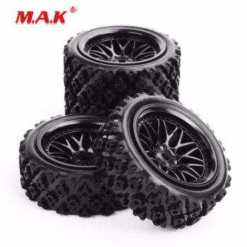 PP0487+BBNK 1:10 Scale Rubber Tires and Wheels with 12mm Hex fit RC Off Road Car Model Toys Accessories Gifts Collections image