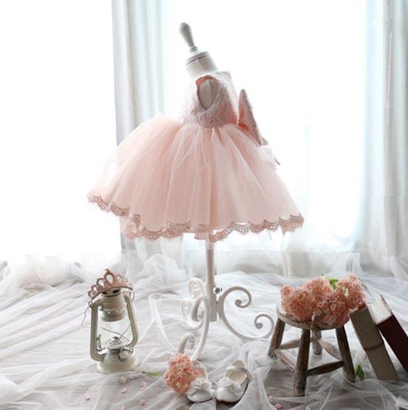 Elegant-Girl-Dress-Girls-2017-Summer-Fashion-Pink-Lace-Big-Bow-Party-Tulle-Flower-Princess-Wedding-Dresses-Baby-Girl-dress-4