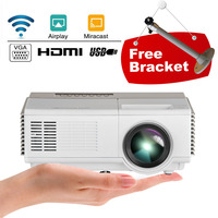 Portable Mini LCD Home Cinema Projector WiFi Airplay Miracast Mirror Screen Mobile Microsystem Full HD Beamer For Smartphone TV