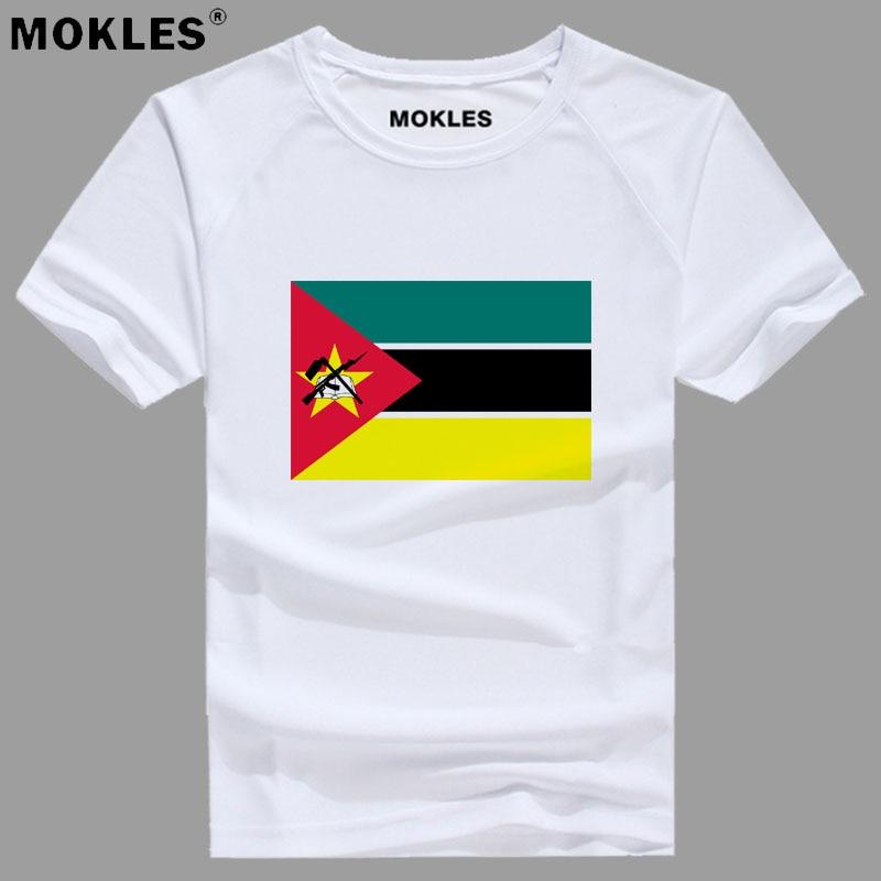MOZAMBIQUE t shirt free custom made name number moz t-shirt nation flag mz republic portuguese college print photo logo clothing
