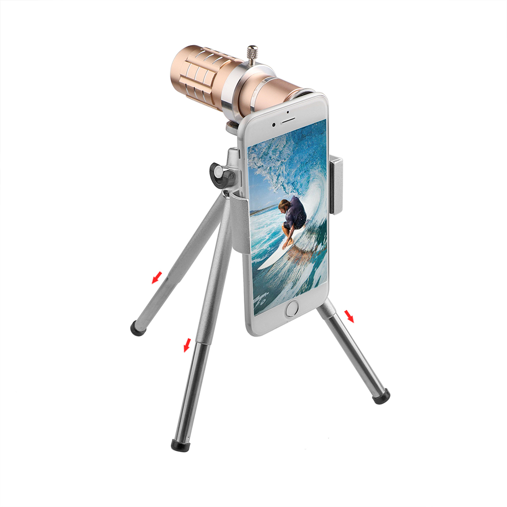 Image 5 - Aluminum 12X Telephoto Telescope Phone Camera Zoom Lens With Tripod Universal Clip For Smartphone Mobile Telescopica Lenses-in Mobile Phone Lens from Cellphones & Telecommunications