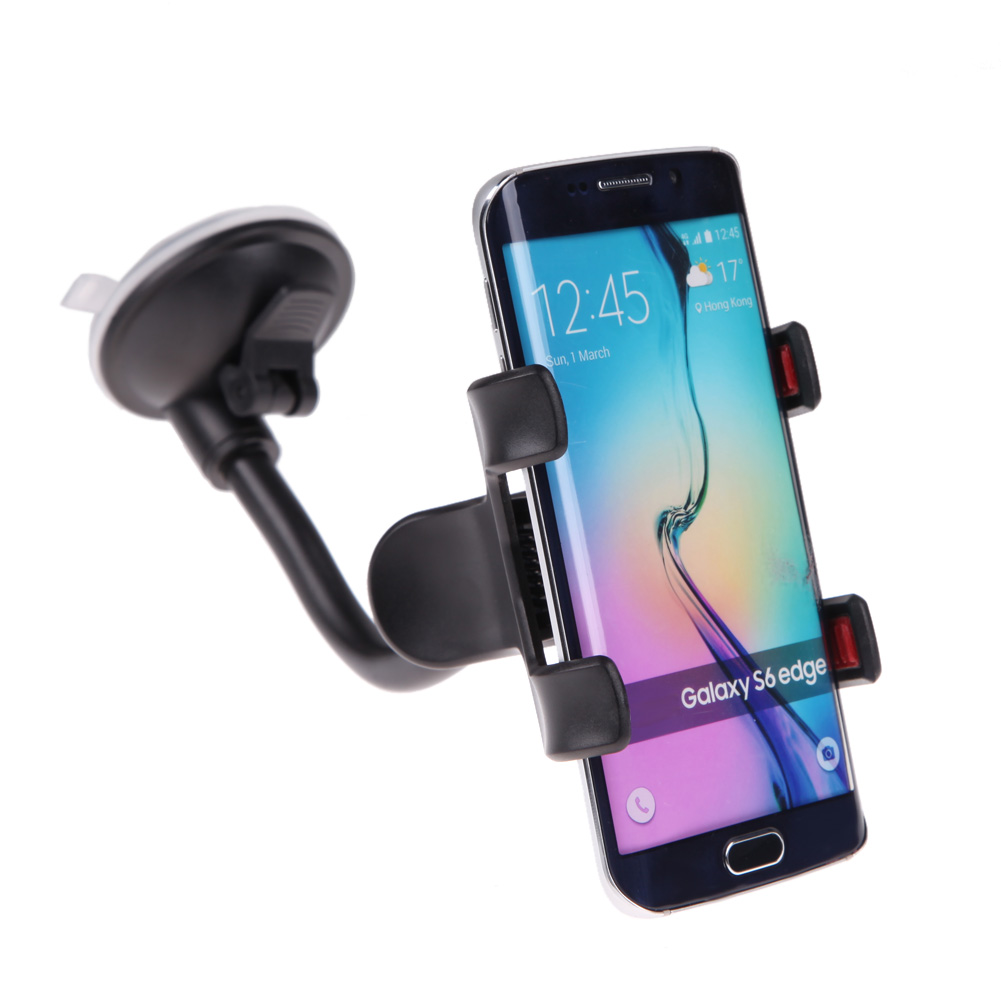 Alloet Car Windshield Mount Phone Holder Stand , with Suction Cup, 360 Degree Rotation Long Arm Mobile Holder for Sumsung Phone