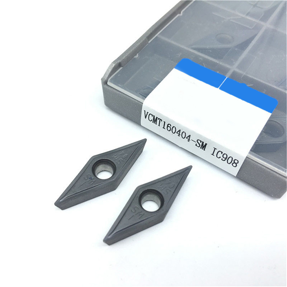 20pcs VCMT160404 SM IC908 Internal Turning Tool <font><b>VCMT</b></font> <font><b>160404</b></font> carbide inserts for cnc Lathe Cutter Tool turning Cutting Tools image