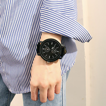 цены Korean Version of The Large Dial Tide Table Tide Male and Female Students Blue Glass Personality Simple Harajuku Style Watch