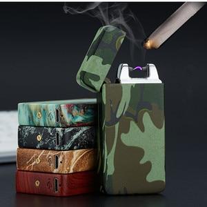Image 1 - Plasma Cigar Arc Palse Lighter Pulse Windproof Lighter Thunder USB Lighter Rechargeable Cigarette Accessorie Electronic Lighter