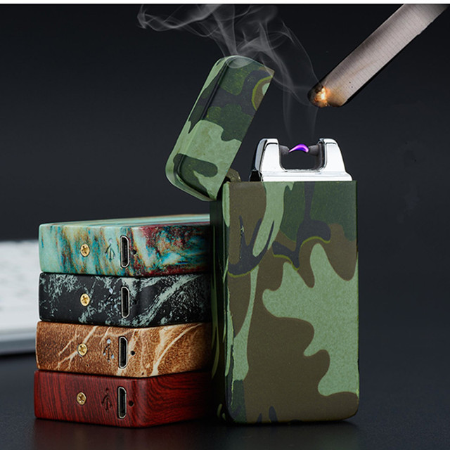 Plasma Cigar Arc Palse Lighter Pulse Windproof Lighter Thunder USB Lighter Rechargeable Cigarette Accessorie Electronic Lighter