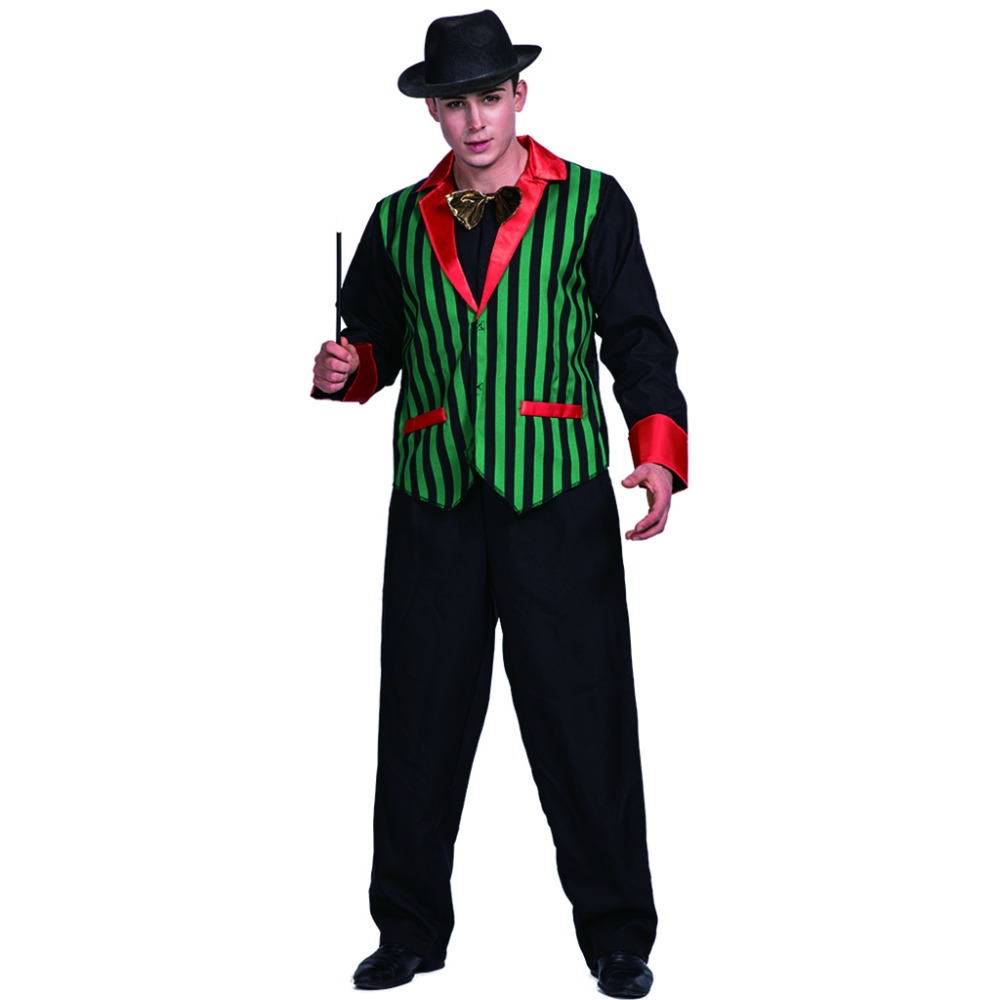 2017 New Arrival Magician Costume Carnival Costume Holiday Costumes Fashion Adult 70s costumes Halloween Cosplay For Men