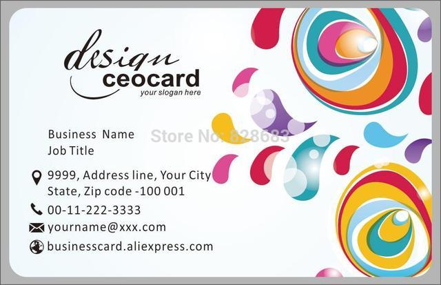 Современный узор пластиковых ПВХ печати карт открытка Y0091
