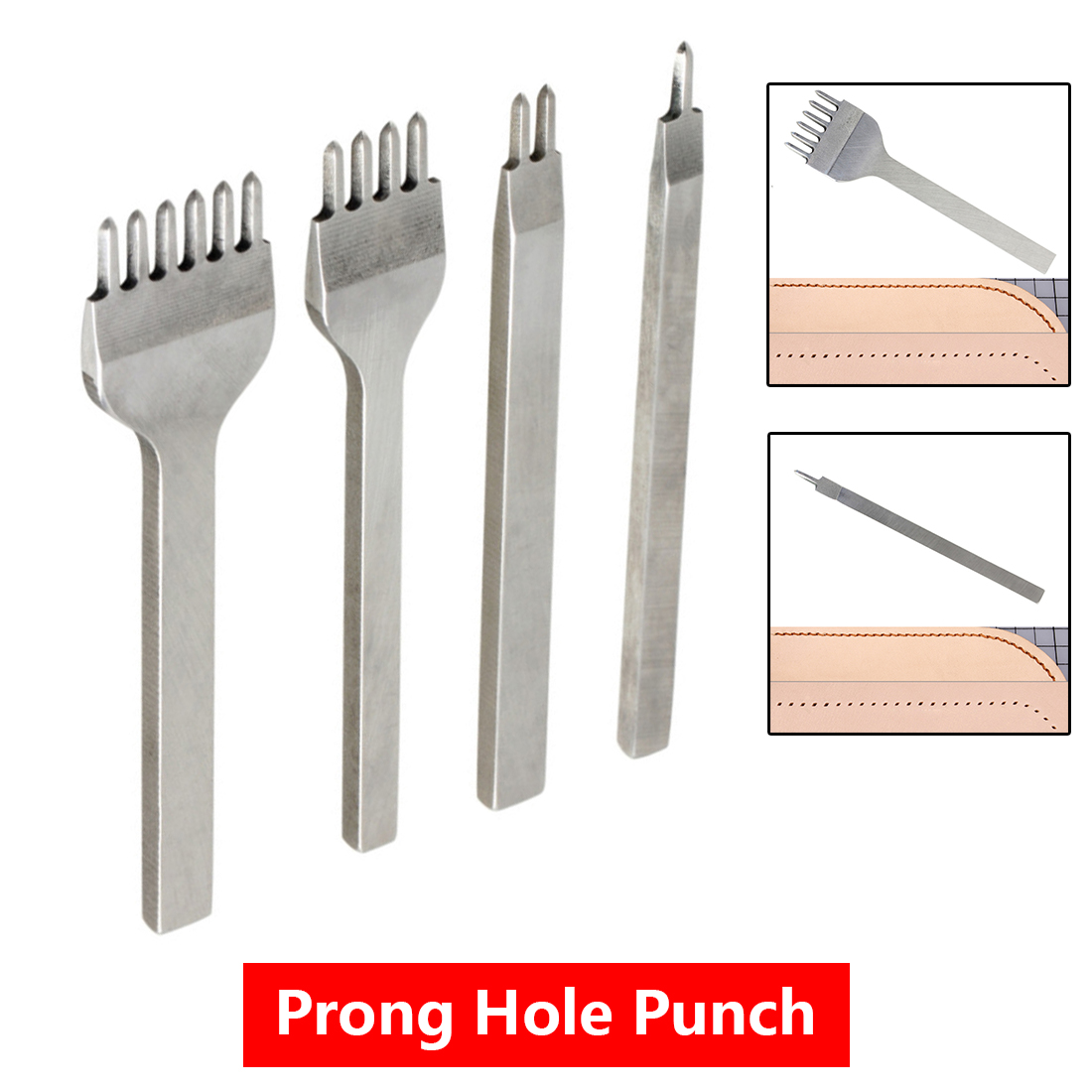 3mm Leather Craft Tool Hole Punches Lacing Stitching Punch 1/2/4/6 Prong For Home Sewing Handmade Leather Tool