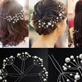 20 PCS Handmade Fashion Wedding Hairpins Bridesmaid Hair Accessories White Red Pearl Bridal Hair Pin Clip Bride Head Jewelry