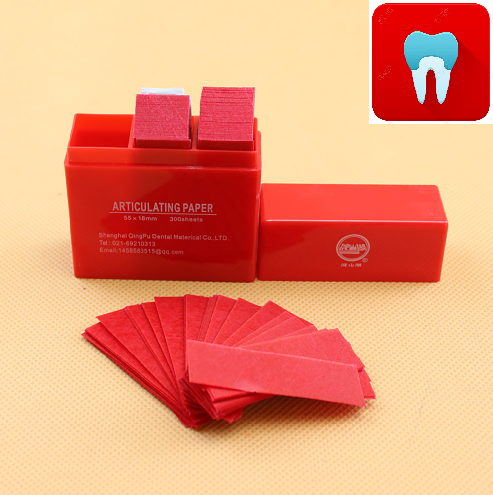 300 Sheet/Box Dental Articulating Paper Strips Dentistry Lab Instrument Occlusion Of Teeh Tools Dentist Material 55*18mm