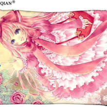 Megurine Luka Rectangle Pillow Cover Size 45x35cm (one side) Print Custom Zipper