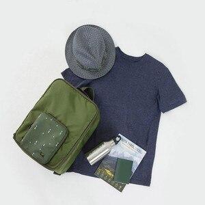 Image 5 - Saco de viagem dobrável mochila feminina à prova dwaterproof água saco de bagagem portátil oxford grande capacidade bolsa