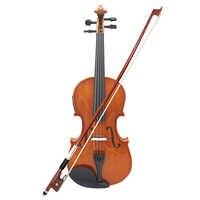 4/4 volle Größe Violine Natürliche Akustische EQ Violine Geige Massivholz Fichte Gesicht Bord mit 6,35mm Draht Bogen Rest kolophonium String Fall